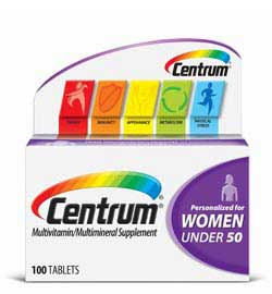 Centrum Women's Under 50 Multivitamin, 100 Count Product Shot