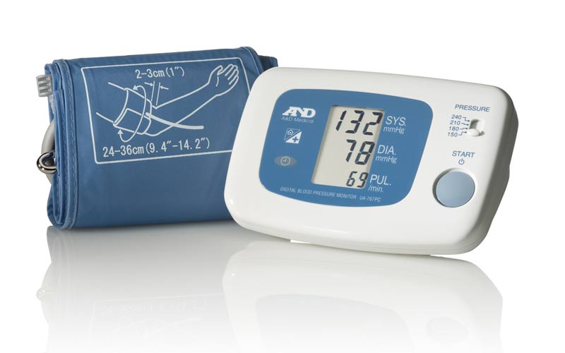 ad medical automatic blood pressure monitor with wired communication ua 767pc product shot