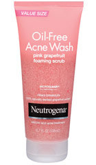 Neutrogena Oil-Free Acne Wash Pink Grapefruit Foaming Scrub Product Shot