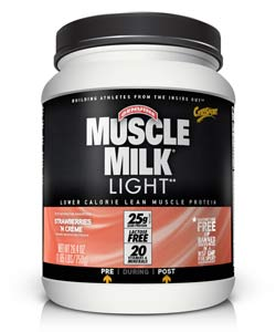 muscle milk light protein powder strawberries 39 n cr me 25g protein. Black Bedroom Furniture Sets. Home Design Ideas