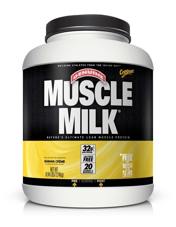 Amazon.com: Muscle Milk Genuine Protein Powder, Banana Crème, 32g Protein, 4.94 Pound, 32 ...