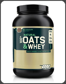 Optimum Nutrition NATURAL 100% OATS & WHEY, Milk Chocolate