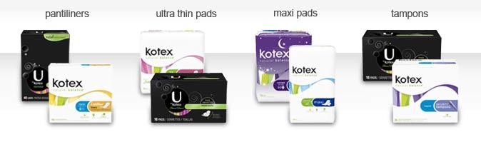 Kotex Product Line