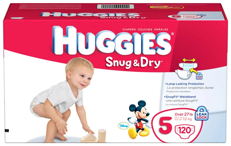 Amazon.com: Huggies Snug & Dry Diapers, Size 5, Giant Pack, 120 ...