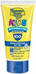 Banana Boat Kids Sunblock Tear-Free Lotion SPF 100, 4 fluid ounces Product Shot