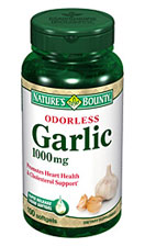 Nature's Bounty Odorless Garlic 1000 mg (100 Softgels)