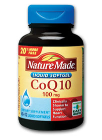 Nature Made Coenzyme Q-10 (72 softgels, 100 mg/each) Product Shot