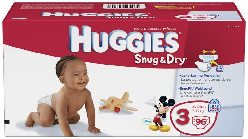 Amazon.com: Huggies Snug & Dry Diapers, Size 3, 96 Count: Health