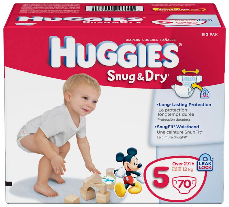 Amazon.com: Huggies Snug & Dry Diapers, Size 5, 70 Count: Health ...