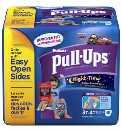 HUGGIES Pull-Ups Training Pants, Nighttime, Boys, 3T-4T, 48-Count Product Shot