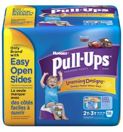 HUGGIES Pull-Ups Training Pants with Learning Designs, Boys, 2T-3T, 58-Count Product Shot