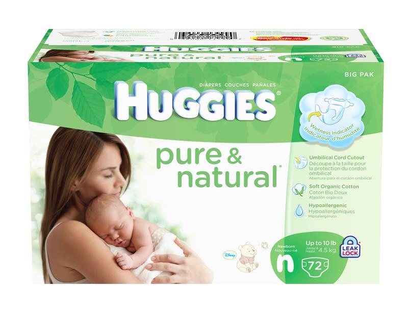 Amazon Com Huggies Pure Amp Natural Diapers Newborn 72