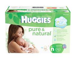 HUGGIES Pure & Natural Diapers, Newborn, 72-Count Product Shot