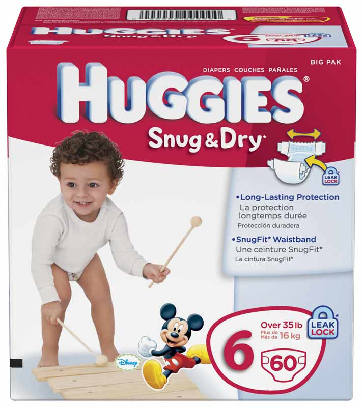 Amazon.com: Huggies Snug & Dry Diapers, Size 6, 60 Count: Health ...