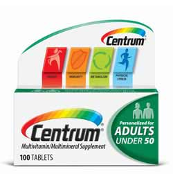 Centrum Adults Under 50 Multivitamin,100 Count Product Shot