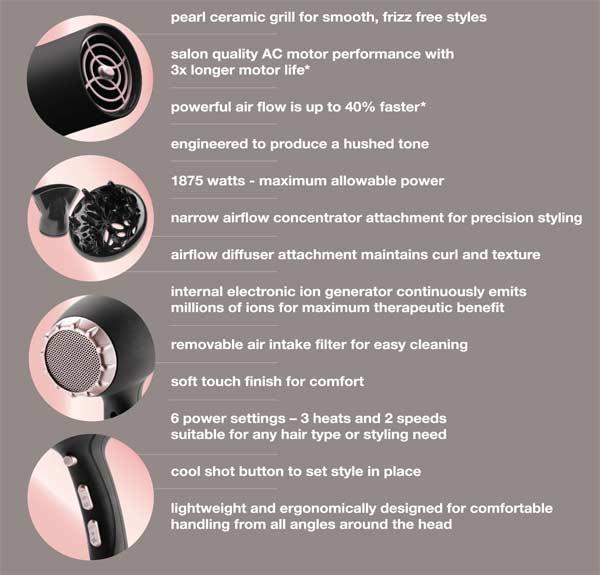 Amazon Remington Pro Hair Dryer With Pearl Ceramic