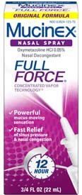 Mucinex Full Force Nasal Spray Product Shot