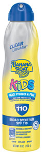 Banana Boat UltraMist Kids Clear Sunscreen SPF 110, 6 fluid ounces Product Shot