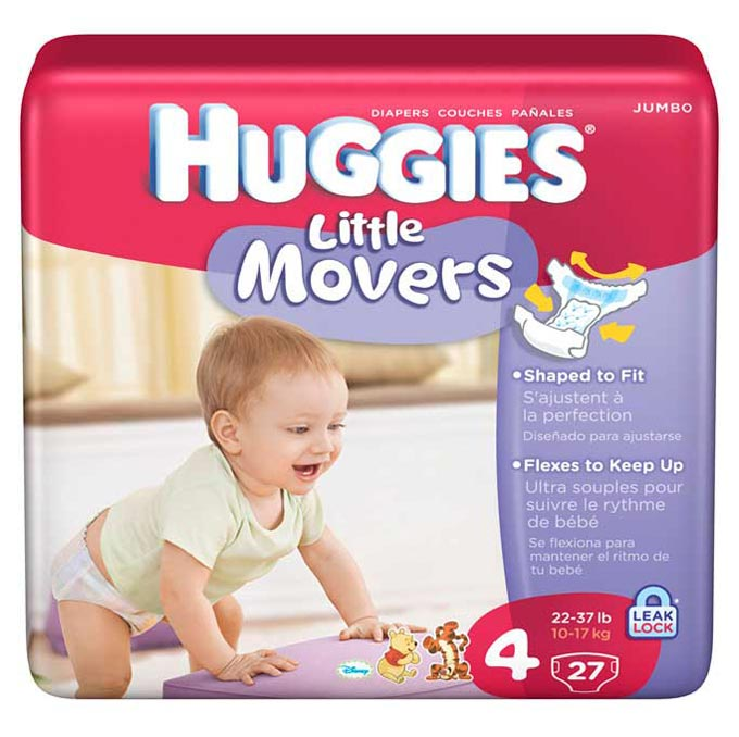 Amazon.com: Huggies Little Movers, Size 4, 112 Count (Packaging ...