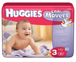 HUGGIES Little Movers Diapers, Size 3, 128-Count Product Shot