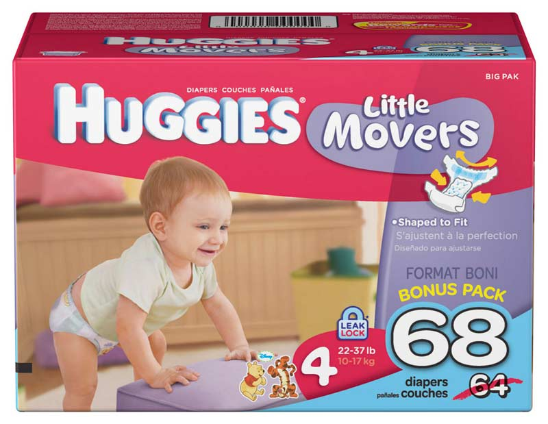 Amazon.com: Huggies Little Movers, Size 4, 68 Count (Packaging May ...
