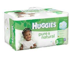 HUGGIES Pure & Natural Bonus Pack Diapers, Size 3, 70-Count (Pack of 2) Product Shot