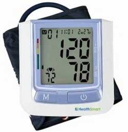 HealthSmart 04-620-001 HealthSmart Standard Automatic Digital Blood Pressure Monitor, Blue Product Shot