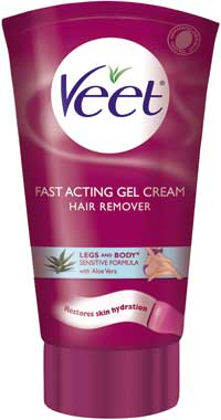 VEET Gel Cream for Sensitive Skin w/ Aloe Vera and Vitamin E (6.78 Ounces) Product Shot