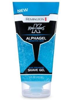 Remington King of Shaves Alphagel Sensitive Skin Shave Gel (Pack of 2) Lifestyle Shot