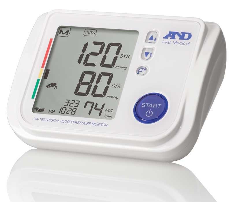 ad medical premier blood pressure monitor with tricheck and slimfit medium cuff ua 1020