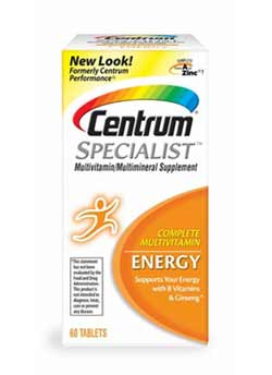 Centrum Specialist Energy 60 CT Product Shot
