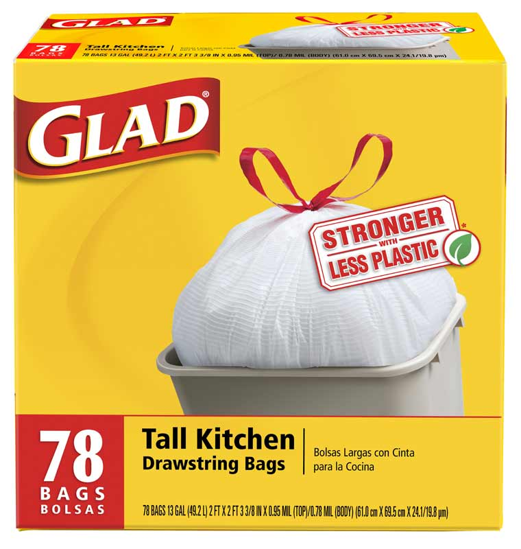Kitchen Garbage Bags: Amazon.com: Glad Tall Kitchen Drawstring Garbage Bags, 78