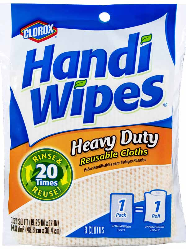 clorox handi wipes heavy duty reusable cloths 3 count pack of 4 colors may vary. Black Bedroom Furniture Sets. Home Design Ideas