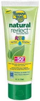 Banana Boat Natural Reflect Kids Sunscreen Lotion SPF 50+, 4 fluid ounces Product Shot