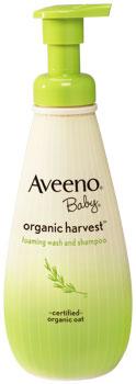 AVEENO Baby Organic Harvest Foaming Wash and Shampoo (8 Ounces) Product Shot