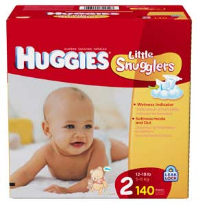 Huggies Little Snugglers Size 2 Giant Pack 140 Count