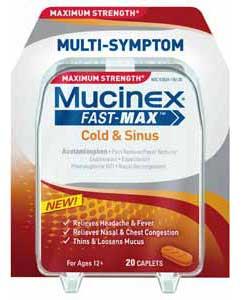 Maximum Strength Mucinex Fast-Max Cold and Sinus Caplets