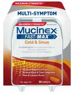 Maximum Strength Mucinex Fast-Max Cold and Sinus Caplets