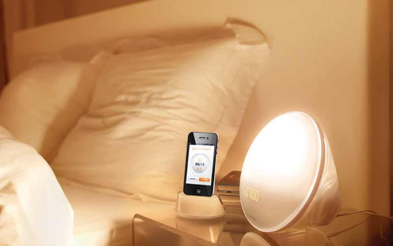 Philips HF3550/60 Iphone Controlled Wake-Up Light with Colored Sunrise