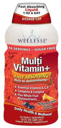 Wellesse Multivitamin+ Fast Absorbing Liquid