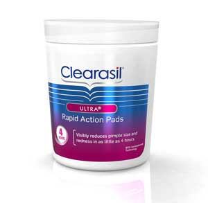 Clearasil Ultra Rapid Action Pads 6/90ct. Product Shot