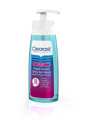 Clearasil Ultra Rapid Action Gel Wash 6/6.78 oz. Product Shot