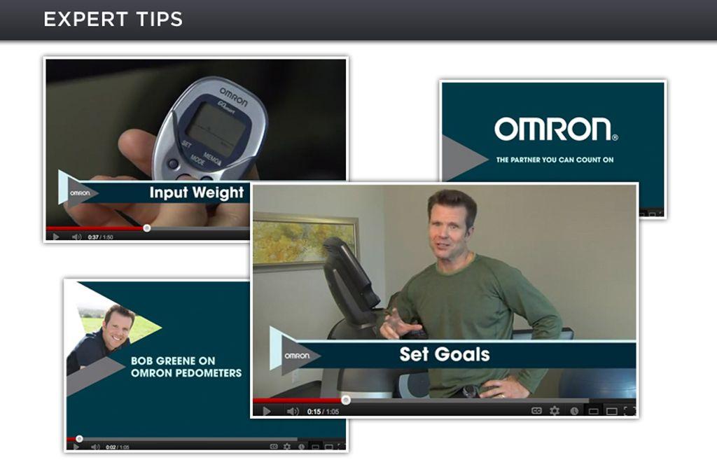 Amazon.com: Omron Tri-Axis Pedometer with USB Plug: Health ...