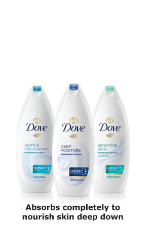 Dove® Body Wash - Absorbs completely to nourish skin deep down
