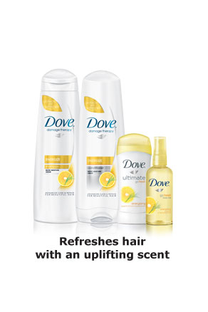 Dove® Damage Therapy Energize - Refreshes hair with an uplifting scent