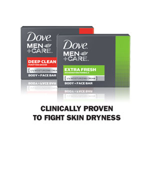 Dove ® Men+Care Body and Face Bar - Clinically proven to fight skin dryness
