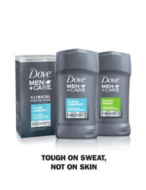 Dove® Men+Care Antiperspirant - Tough on Sweat, Not on Skin