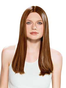 This is a picture of a woman with straight hair