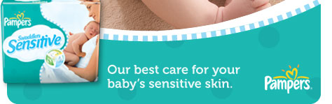 Pampers Swaddlers Sensitive - Our best care for your baby's sensitive skin.