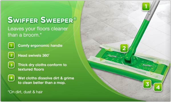 Swiffer Sweeper® Leaves your floors cleaner than a broom.* - Amazon.com: Swiffer Sweeper Dry Sweeping Pad Refills For Floor Mop